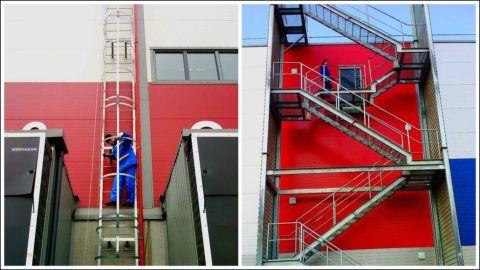 Осмотр пожарных лестниц