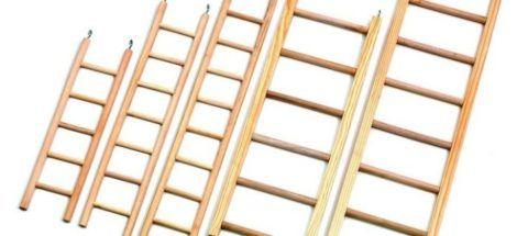 Приставные лестницы и стремянки из дерева
