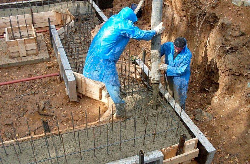 стоимость работ заливка бетона