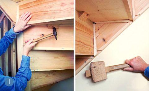 Скрипит деревянная лестница что делать