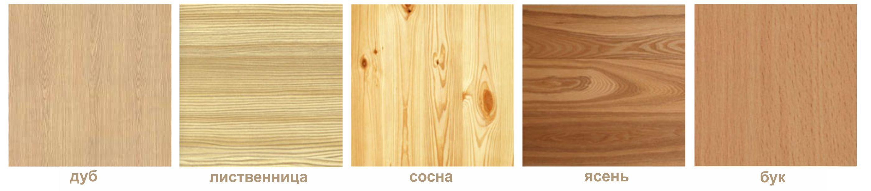 Оттенки и текстура различных пород древесины