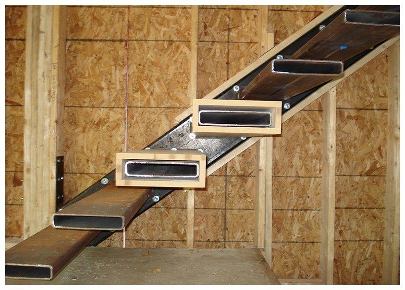 Консольная лестница до сборки