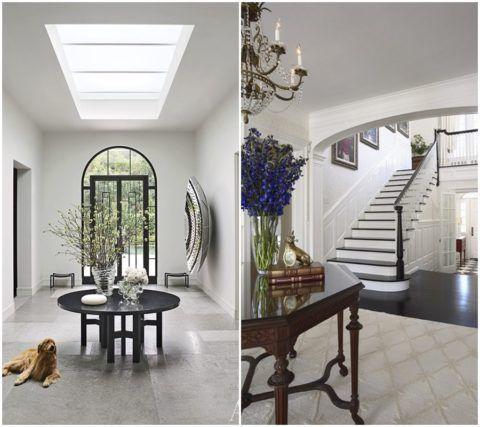 Дизайн коридора с лестницей в частном доме