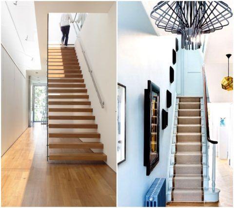 Дизайн коридора в доме с лестницей