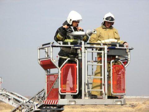 Доставка пожарников на высоту