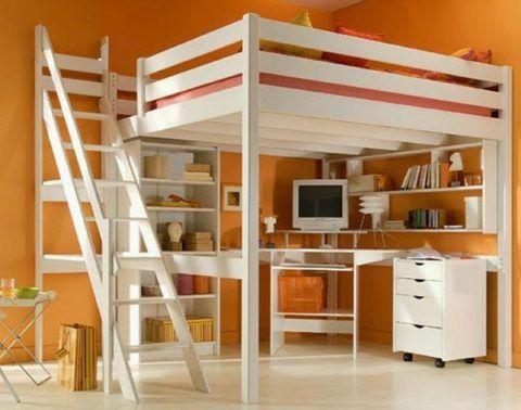 Двухъярусная кровать с одним спальным местом