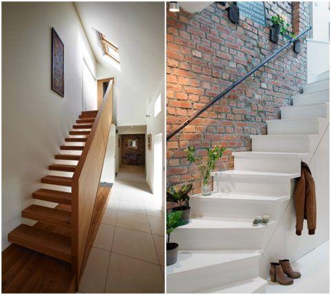 Коридор с лестницей на 2 этаж