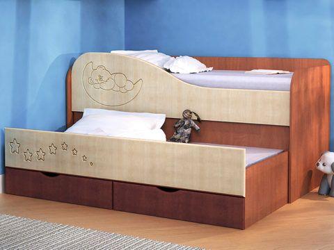 Кровать двухъярусная детская выдвижная