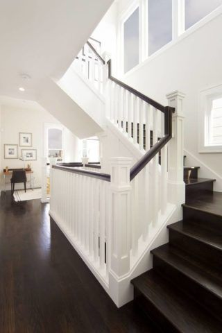 Лестничная конструкция в американском стиле