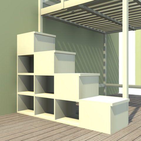 Лестница комод для кровати-чердака