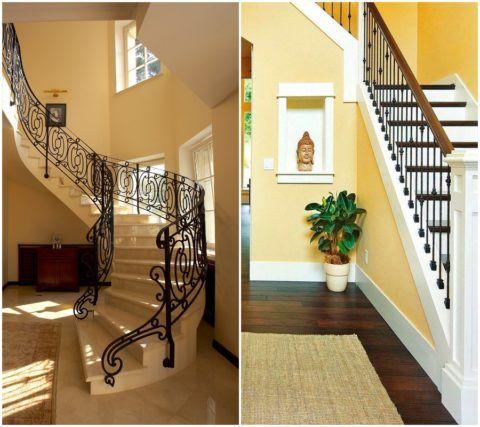 Лестница на второй этаж в коридоре