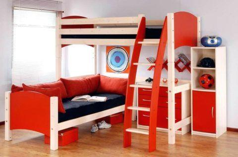 Лестница-стремянка для двухъярусной кровати