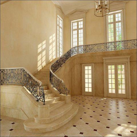 Лестница в классическом интерьере