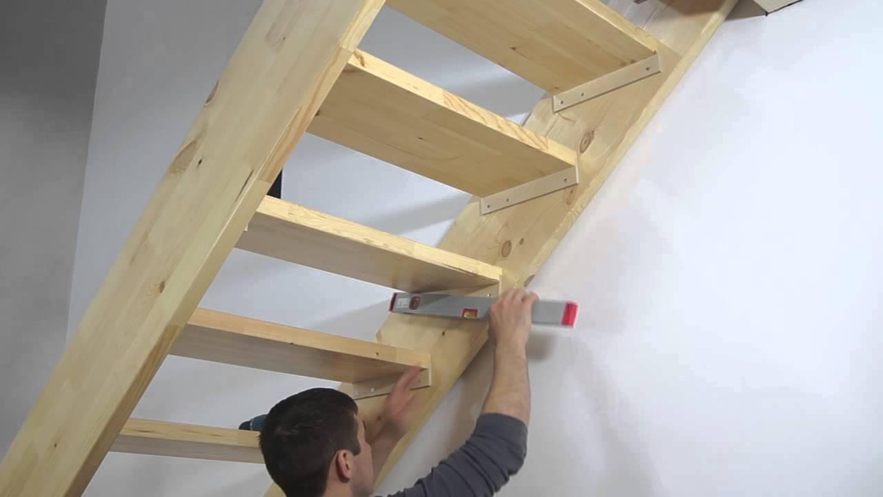 Сделать лестницу своими руками простую