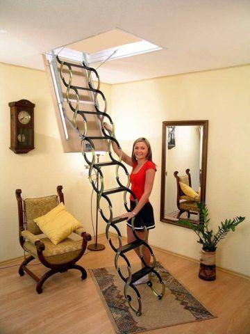 Раскладные лестницы на чердак