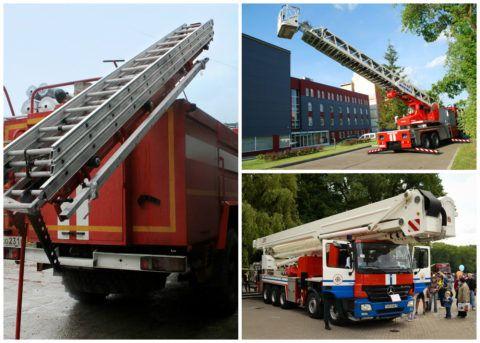 Разновидности пожарных автолестниц