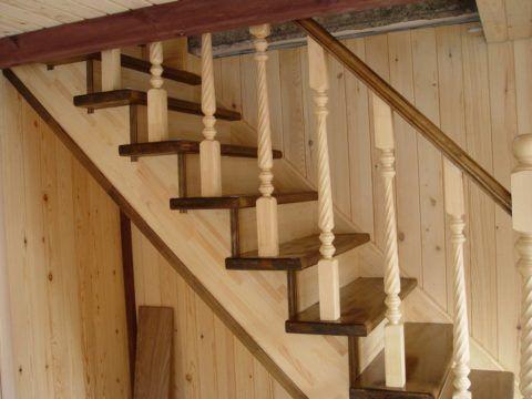 Рядовые ступеньки для лестницы из дерева