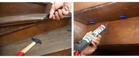 Устранение скрипа в деревянной лестнице