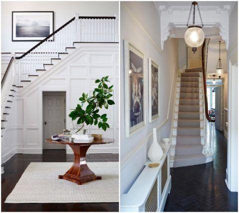 В просторной прихожей можно поставить стол с цветком, а в скромном коридоре хватит небольшой вазы под картинами на стене