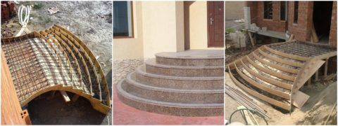 Благодаря опалубочному методу возведения, бетонная конструкция может приобретать любые очертания