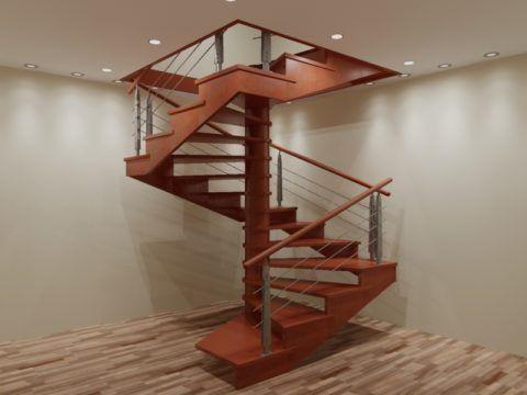 Квадратная форма винтовой лестницы