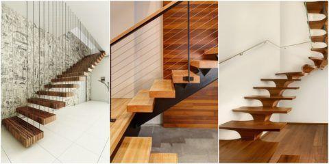 Лестницы для дома современный дизайн из натуральной древесины