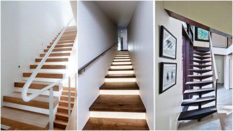 Лестницы современных конструкций одномаршевые