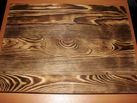 Обожженная древесина