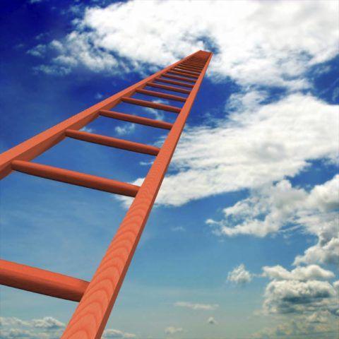 Очень длинная лестница небезопасна для использования