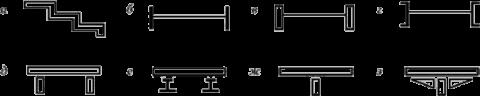 Профили, используемые при изготовлении тетив или косоуров