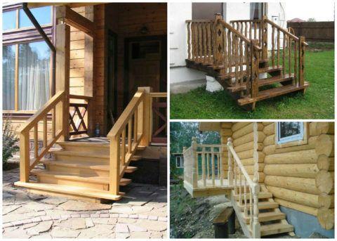 Разнообразие деревянных ограждающих конструкций на крыльцо