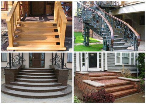 Разнообразие материалов для изготовления крыльца позволяет подобрать вариант для любого фасада