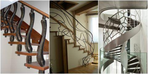 Современные кованые лестницы