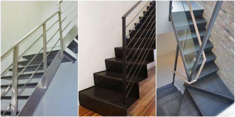 Современные лестницы на металле