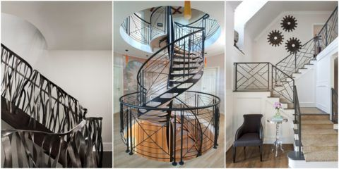 Современные лестницы с ковкой