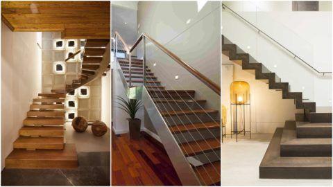 Современные лестницы в коттеджах