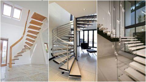 Современные стильные лестницы