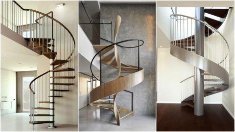 Современный дизайн лестницы на второй этаж