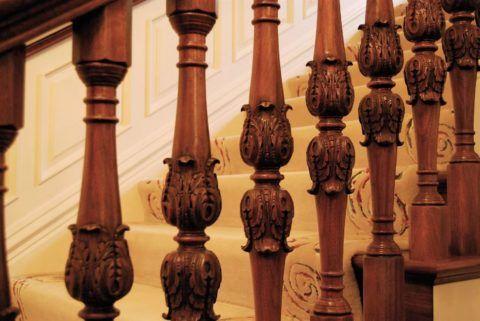 Балясины могут выступать как основной декоративный элемент