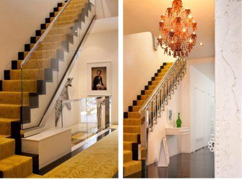 Дизайн лестницы в гостиной