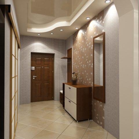 Двухъярусный потолок можно устроить в просторном помещении
