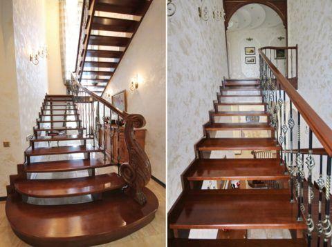 Элитные готовые деревянные лестницы для дома