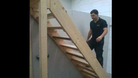 Готовая лестница в погреб будет прочной и удобной