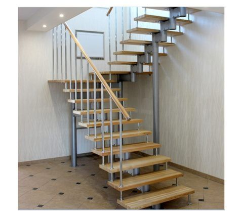 Готовые лестницы для дачи деревянные на металлическом каркасе