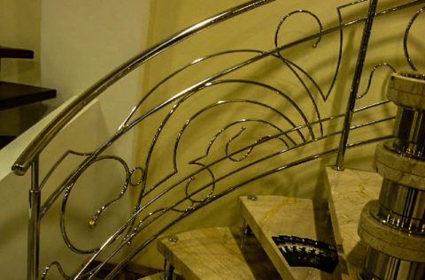 Красивые перила для лестниц из нержавеющей стали