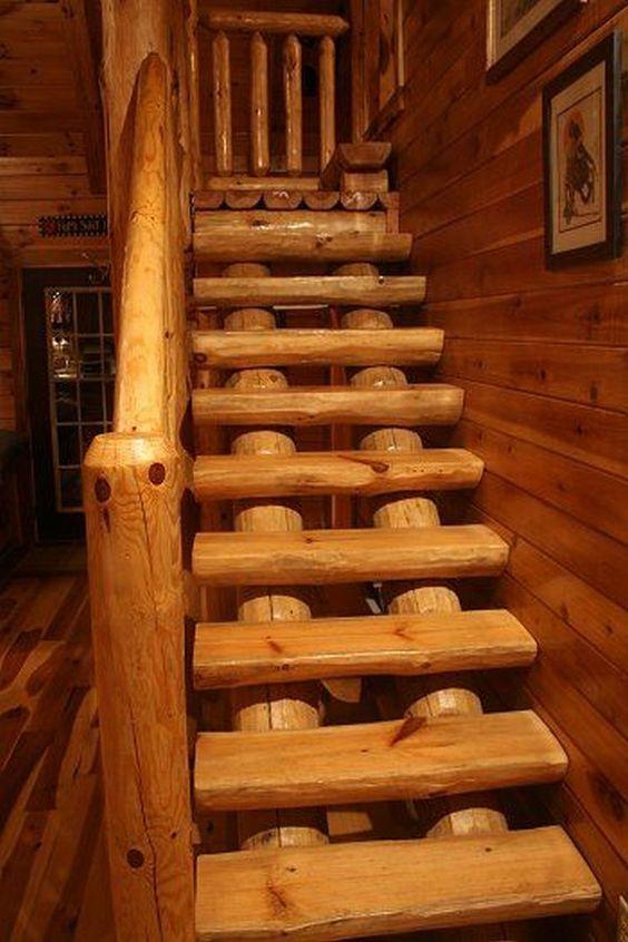 лестницы бревенчатые фото разворачивается зимний