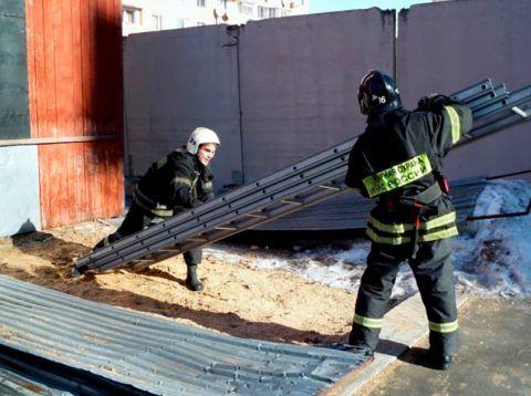 Лестница пожарная 3 х коленная