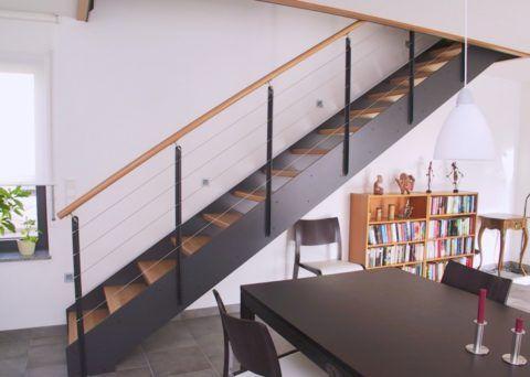 Лестница с тетивами представляет собой прочную и достаточно простую в изготовлении конструкцию