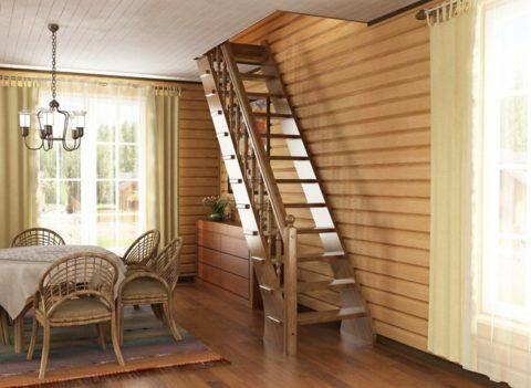 Лестницы на чердак обычно имеют большой уклон для экономии места