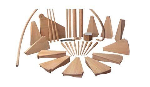 Межэтaжные готовые деревянные лестницы, комплектация